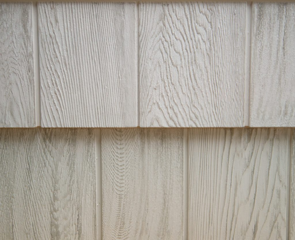 Foundry Grayne shingle siding, Mountain Ash, vinyl siding