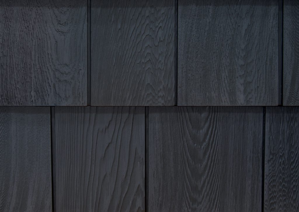 Foundry Grayne shingle siding, Rustic Slate, vinyl siding