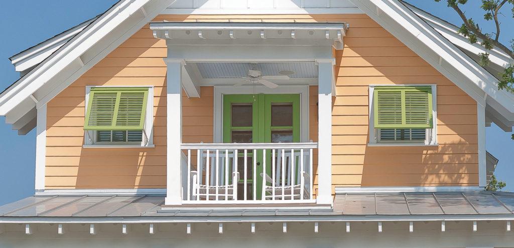 Atlantic Shutters, Bahama Shutters, green shutters
